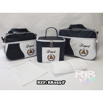 Kit Bolsa De Bebe/maternidade Personalizadas Frasqueira 5pçs