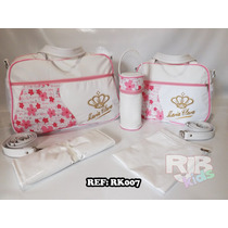 Kit Bolsa De Bebê Maternidade Personalizada 4 Peças + Brinde