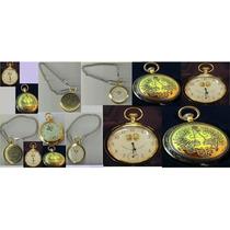 Relógio De Bolso Cor Dourada Novo