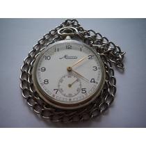 Relógio De Bolso Minerva Swiss Made