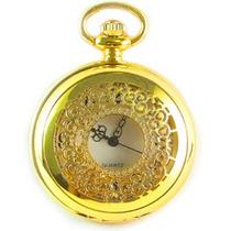 Relógio De Bolso Novo - Dourado