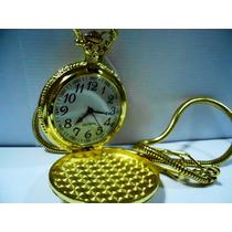 Imperdível Relógio De Bolso Banho De Ouro Estilo Antigo/ Mp