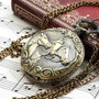 Relógio De Bolso Quartz Estampa De Cavalo