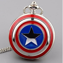 Relógio De Bolso - Capitão América - Marvel