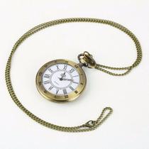 Relógio De Bolso Estilo Antigo Com Corrente