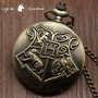 Relógio De Bolso Harry Botter Brasão Hogwarts - Bronze