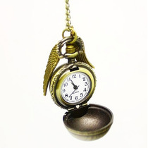 Relógio Pomo Ouro Asas Steampunk Harry Potter Bolso Pingente