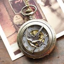 Broche + Bracelete + Colar + Relógio De Bolso - Tordo