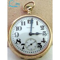 Relógio De Bolso Antigo Waltham Porcelan Numeração De Série