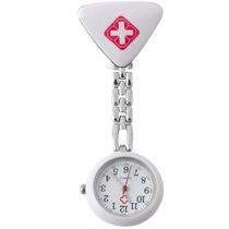 Relógio De Lapela Em Metal Para Enfermeiras Branco