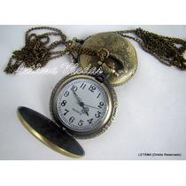 Relógio De Bolso Modelo Antigo Vintage Com Corrente
