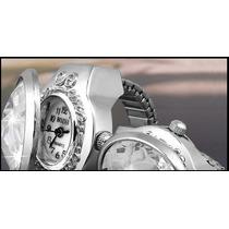 Relógio Anel Com Enfeite Cristal -pronta Entrega!