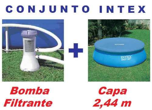 Bomba Filtrante Piscina Intex 2006 L/h 110v + Capa 2,44 M