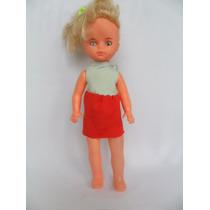 Antiga Boneca Sem Marca Olhos Pintados 26cm De Altura
