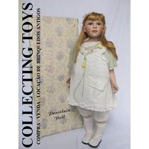 Boneca De Porcelana - Gigante: 80 Cm - P/ Decoração!