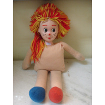 #4826# Brinquedo Boneca Pano Emilia, Antiga!!!