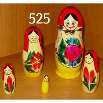 Bonecas Russas 525 11-12cm Matrioska Mamuska Frete Fixo
