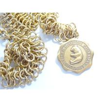 Antigo Colar C/ Medalha De Boneca Brinquedo Anos 60! Estrela