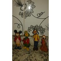 Antigos Bonecos Mickey,pluto,pateta E Zé Carioca [ Raridade]