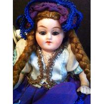 Boneca Biscuit Antiga Mignonnette Toda Original Perfeita
