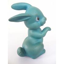 Brinquedo Boneco Coelho Azul Atma Dec 60 Antigo Estrela