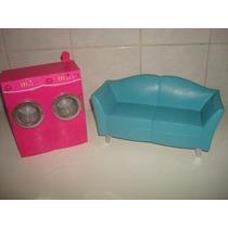 Brinquedos Sofá E Maquina De Lavar P/ Barbie - Mattel.