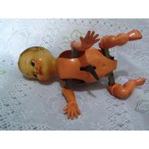 Boneco Nenê Gatinhando À Corda- Estrela- Antiguidade 1953