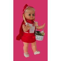 Boneca Antiga Chapeuzinho Vermelho Da Atma