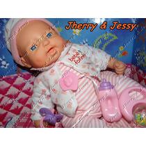 Boneca Bebê Fofinho C/ Expressão Real - Fala Chora Original