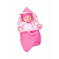 Boneca Dorme Bebê Pink 5283 - 40 Cm - Roma