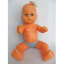 Antiga Boneca Bebê Com Olhos De Dormir