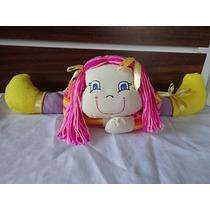 Boneca De Tecido Deitada Com Sapatinhos 53cm