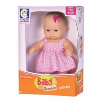 Baby Junior Fofinha Com Vestido Boneca Bebê Cotiplás