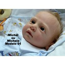 Bebê Boneca Reborn Michele Ou Michel Recém Nascido - Baby