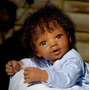 Aaron Boneco Reborn Afro Inteiro Silicone Cabelo Implantado