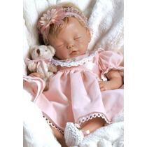 Oferta! Penelope Boneca Bebê Silicone Tipo Reborn C/ Enxoval