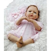 Caroline Bebe Reborn Cabelo Implantado + Enxoval Pr Entrega