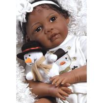 Kione Boneca Bebê Reborn Negra Pronta Entrega