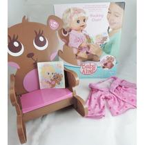 Baby Alive - Cadeira De Balanço + Hobby + Livro Historinha