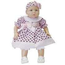 Boneca Bebe Sophia Vestido Poa Brinquedo Menina