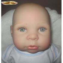 Boneca Bebe Reborn 50cm Silicone Macio C/ Enxoval Gratis