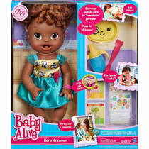 Boneca Baby Alive Hora De Comer Negra Hasbro A8347 Original