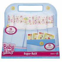 Baby Alive Super Refil Fralda + Comidinha De Boneca - Hasbro