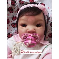 Bebê Boneca Reborn Molde Nacional Tatá Para Dia Das Crianças