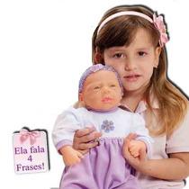 2 Bonecas Baby Aninha - Fala 4 Frases - Adijomar Brinquedos