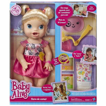 Boneca Baby Alive Hora De Comer Loira A7022 - Hasbro