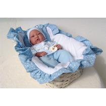 Bonecas Tipo Reborn Bebe Realista Com Moisés