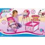 Kit 3x1 Acessórios Para Boneca Carrinho Cadeira E Cama