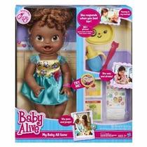 Baby Alive Hora De Comer Negra - Em Português - Hasbro A8347