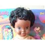 Boneca Bebê Negra Borracha E Tecido Anos 60 Importada Eua